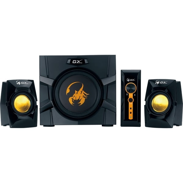 Genius GX Gaming SW-G2.1 3000 2.1 Speaker System - 70 W RMS - Black,