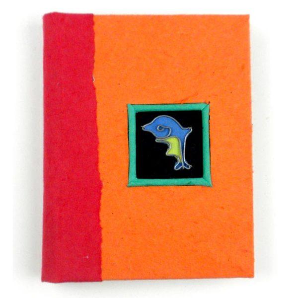 Handmade Twine-bound Recycled Paper Dolphin Journal (Zimbabwe)