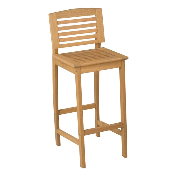 Bali Hai Natural Teak Outdoor Bar Stool