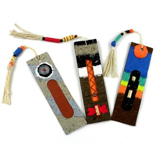 Handmade Recycled Paper Bookmarks (Set of 3) (Zimbabwe)