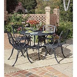 Home Styles Malibu Cast Aluminum Black 5-piece Outdoor Dining Set