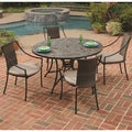 Stone Harbor Slate/ Black 5-piece Outdoor Dining Set