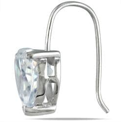 Miadora Sterling Silver Heart-shaped Cubic Zirconia Earrings