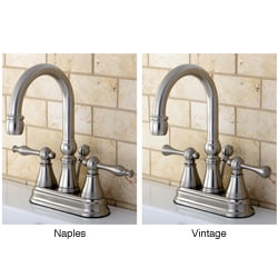 High Spout Centerset Satin Nickel Bathroom Faucet