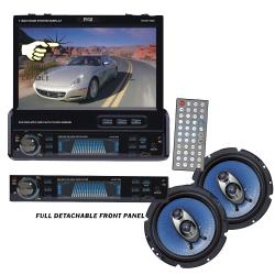 Pyle 7-inch Motorized Monitor DVD Player With 6.5-inch Speakers