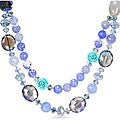 650ct TGW Agate and Crystal Bead 26-inch Necklace