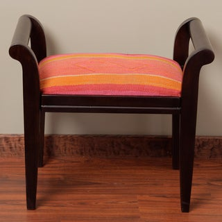 Wood Stripe Bench (Peru)