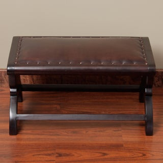 Dark Brown Leather Bench (Peru)