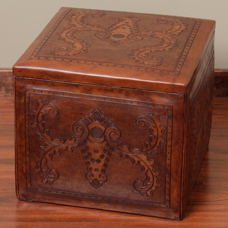 Square Brown Storage Ottoman (Peru)
