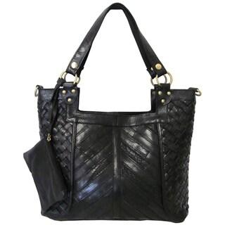 Amerileather 'Hazelle' Leather Shoulder Bag