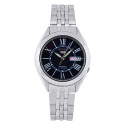 Seiko Men's 5 Automatic SNKL31K Silver Stainless-Steel Automatic Watch with Blue Dial