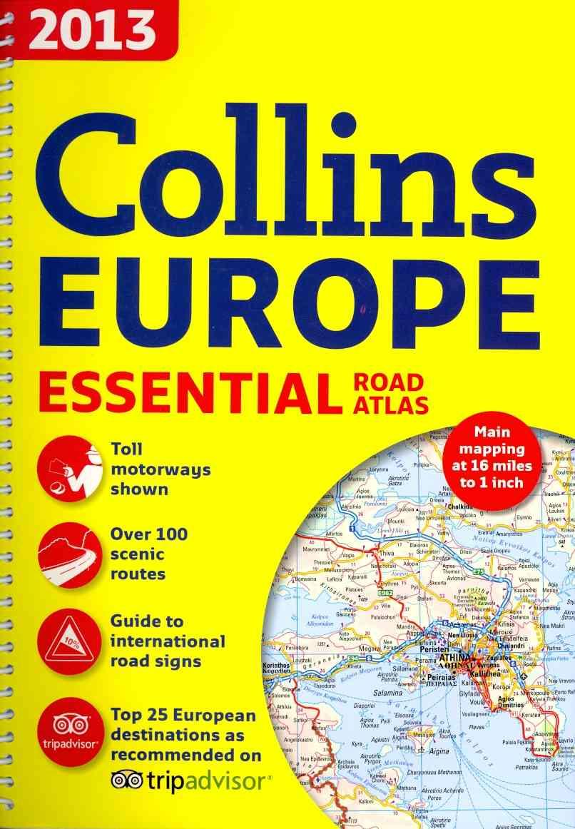 Collins Europe Essential Road Atlas 2013 (Spiral bound)