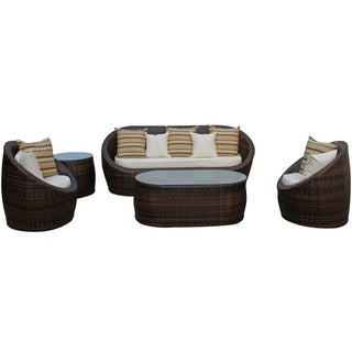YuAnne Outdoor Rattan 5-piece Set
