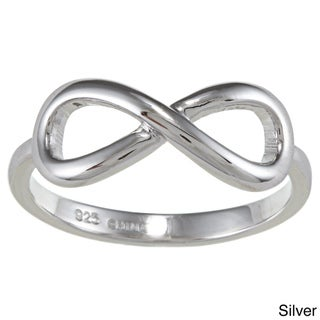La Preciosa Sterling Silver Infinity Design High Polish Ring