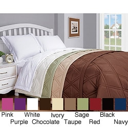 Microfiber Solid Color Down Alternative Blanket