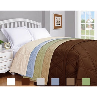 Microfiber Solid Color Down Alternative Blanket