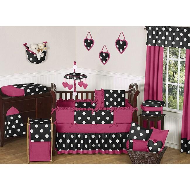 Sweet Jojo Designs Hot Dot 9-piece Crib Bedding Set