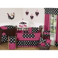 Sweet Jojo Designs Hot Dot 9-piece Crib Bedding Set
