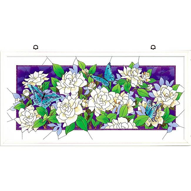 Joan Baker Hand Painted Gardenias Art Panel