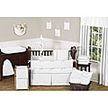 Sweet Jojo Designs Minky Dot 9-piece Crib Bedding Set in White