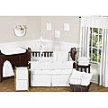 Sweet Jojo Designs White Diamond 9-piece Crib Bedding Set