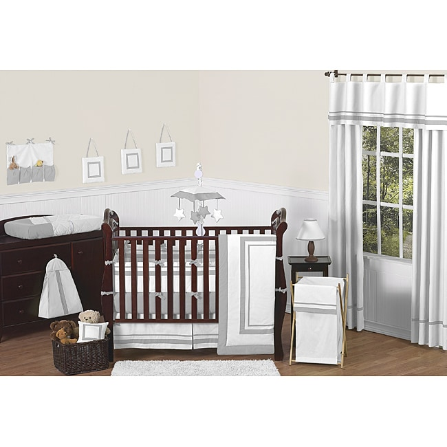 Sweet Jojo Designs Hotel 9-piece Crib Bedding Set in Grey