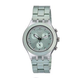 Swatch Unisex Full Blooded Aluminium Watch with Mint-green Dial