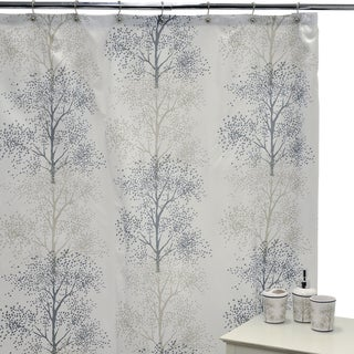 Enchanted Shower Curtain and Ceramic Bath Accessories 16-piece Set