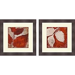 Lanie Loreth 'Red Impressions I & II' Framed Print