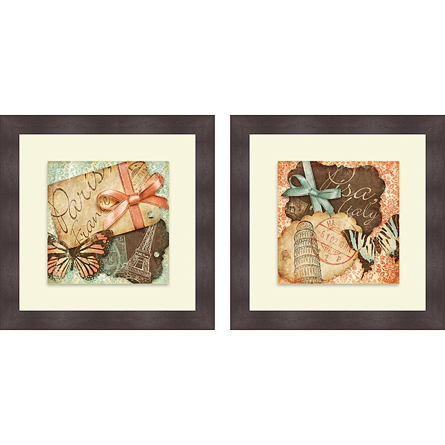 Sd Graphics Studio 'Vintage Travels I & II' Framed Print