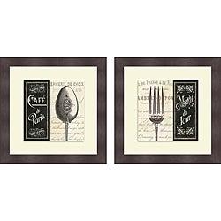 Pela Studio 'French Menu I & II' Framed Print