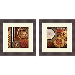 Patricia Pinto 'African Circles I & II' Framed Print