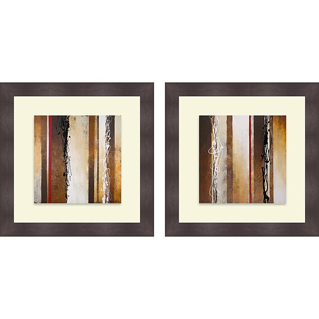 Michael Marcon 'Breaking Loose I & II' Framed Print