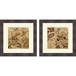 Lanie Loreth 'European Floral on Beige I & II' Framed Print
