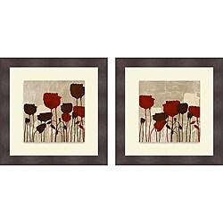 Patricia Pinto 'Floral Simplicity V & VI' Framed Print