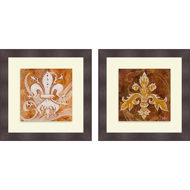 Thomas Riker 'Fleur de Lis I & III' Framed Print