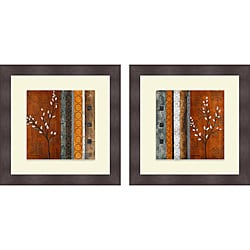 Michael Marcon 'Willow Stems I & II' Framed Print