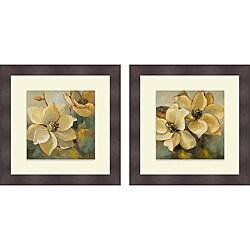 Lanie Loreth 'Magnolias After the Rain I & II' Framed Print