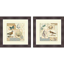 Pela 'Coastal Collage I & II' Framed Print