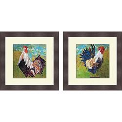 Elizabeth St. Hilaire Nelson 'Report Card Rooster & Cock-A-Doodle' Framed Print