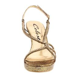 Celeste Women's Marisa-02 Jeweled Glitter Studded Platform Wedge (Size 10)