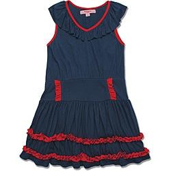 Beetlejuice London Girls' Navy/ Red Dress
