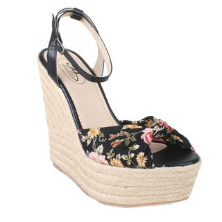 Bolaro by Beston Women's Floral Espadrille Wedges