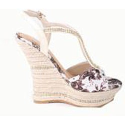 Bolaro by Beston Women's 'DW1168' Floral Espadrille Wedge Sandals