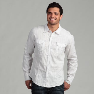 Pop Icon Men's White Cotton Shirt
