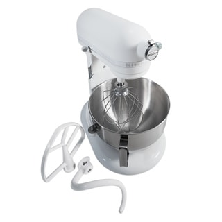KitchenAid KV25G0XQWW White Five-quart Stainless Bowl Mixer