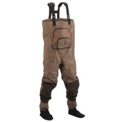 Hodgeman Tan/Brown Neoprene Side-release Booted Pipestone Chest Waders