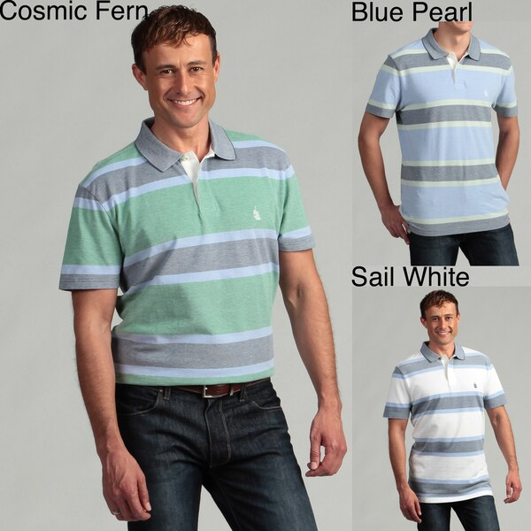 Nautica Men's Oxford Striped Polo Shirt