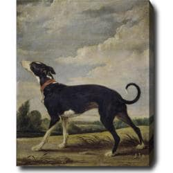 Paul de Vos 'The Dog' Hand-painted Oil on Canvas