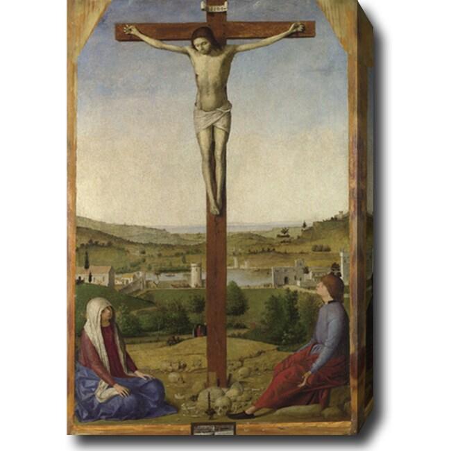 Antonello da Messina 'The Sibiu Crucifixion' Hand-painted Oil on Canvas